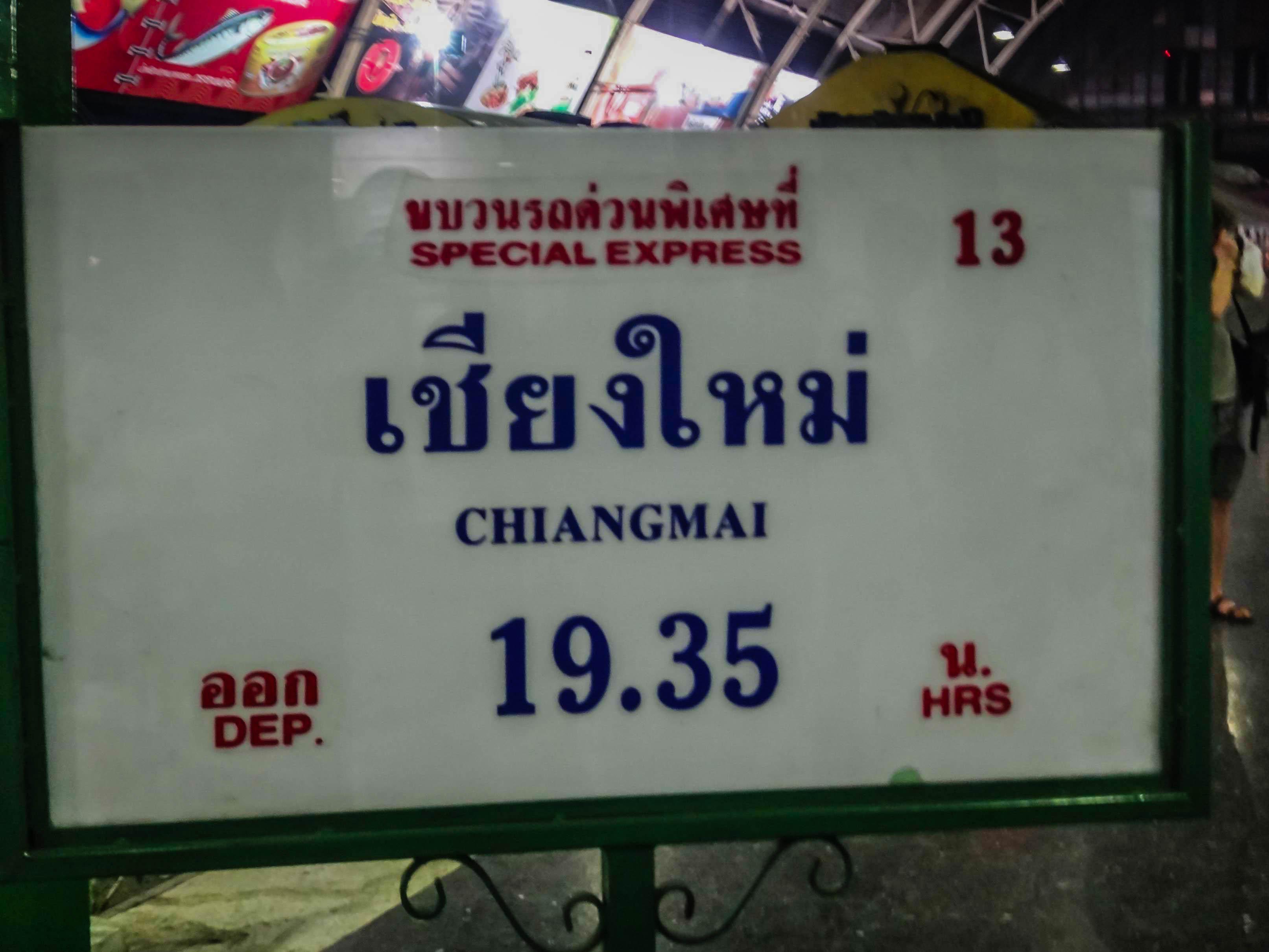 Zugfahrt Chiang Mai